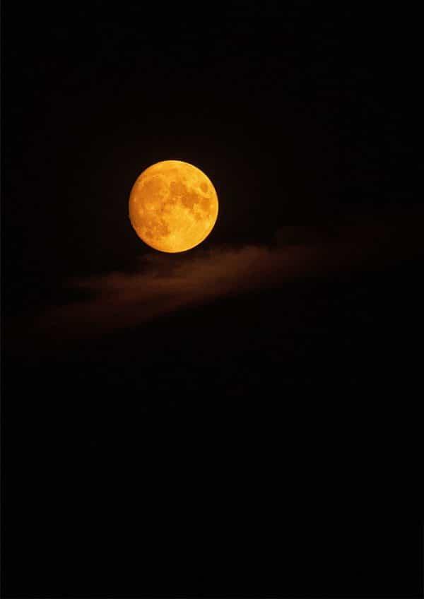 Bilddruck Mond