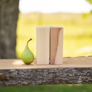 Handgemachte Holzvase aus Birnenholz