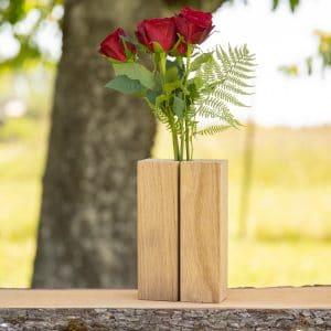Holzvase aus Eiche natur