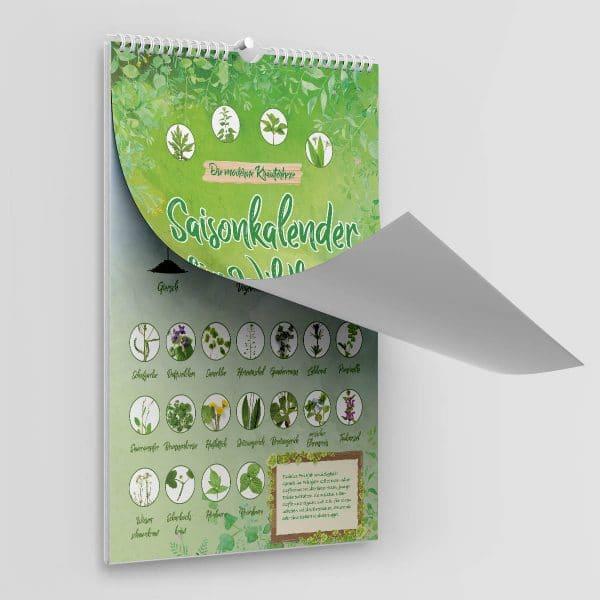 Kalender für Wildkräuter