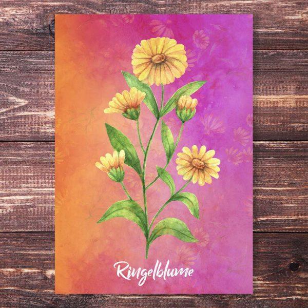 Postkarte Ringelblume