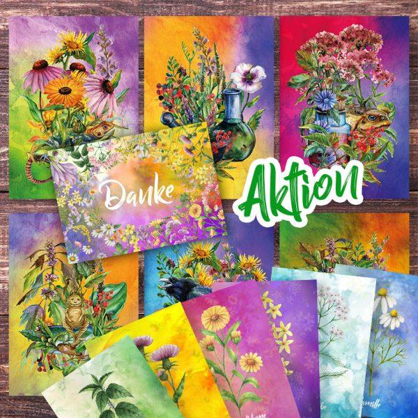 Postkartenset in der Aktion