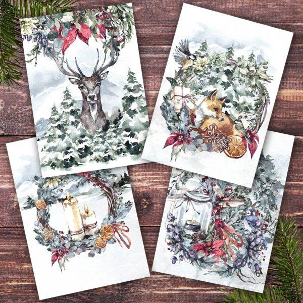 Weihnachtskarten Set mit unseren Klappkarten